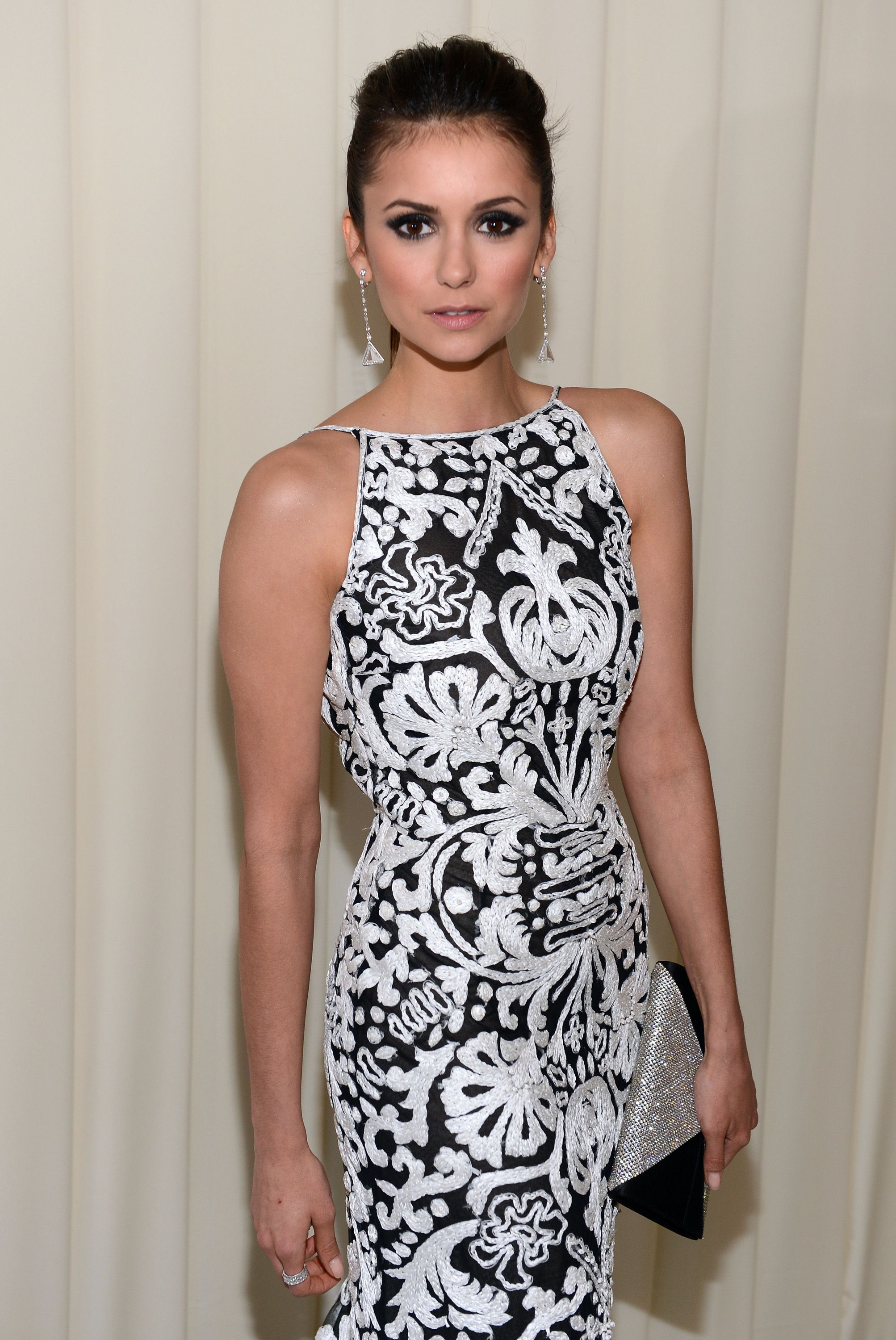 Nina Dobrev - 21th Annual Elton John AIDS Foundation Academy Awards 2/24/2013