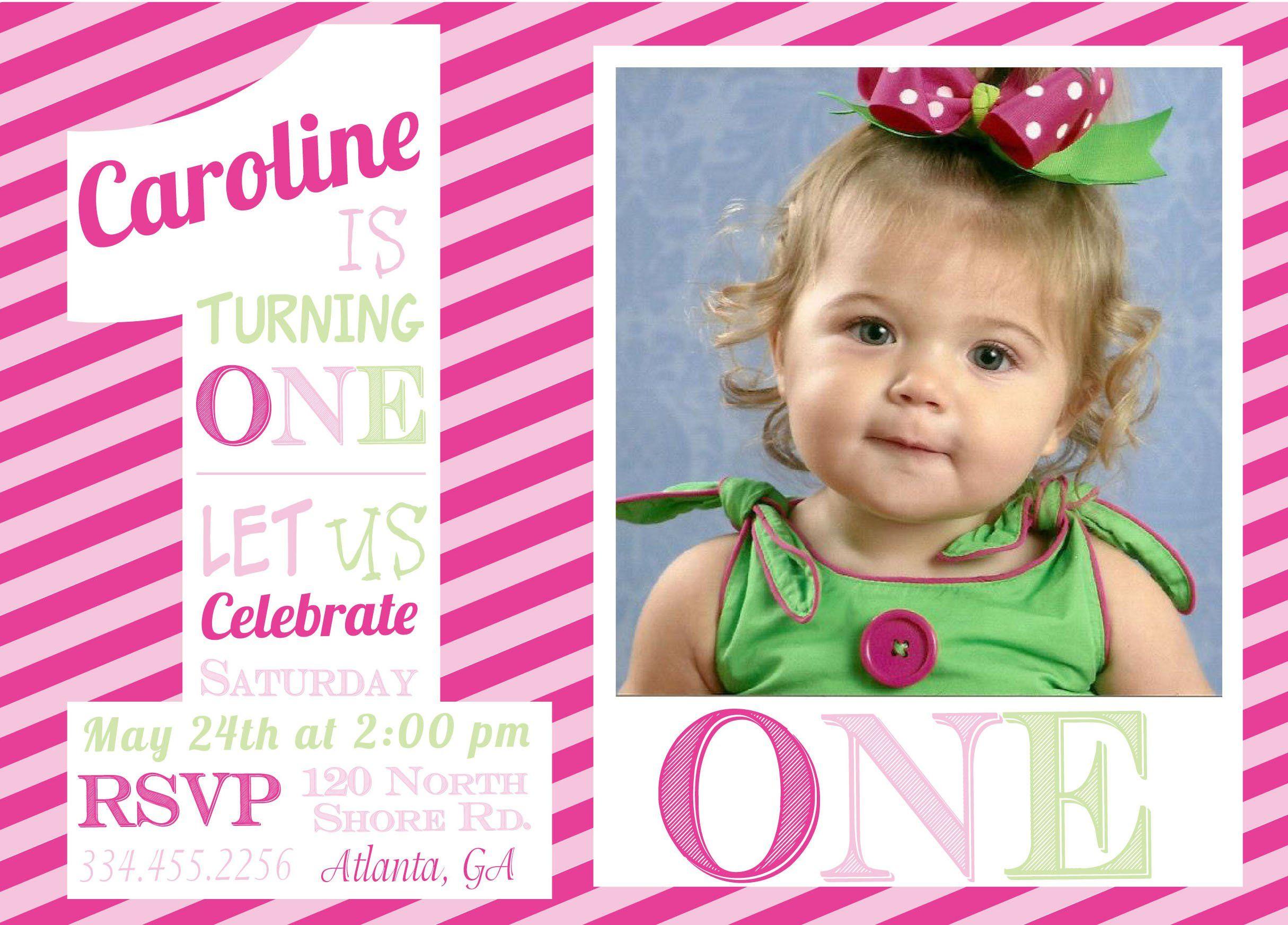 birthday invitations : 1st birthday invitations - Invitations Design ...