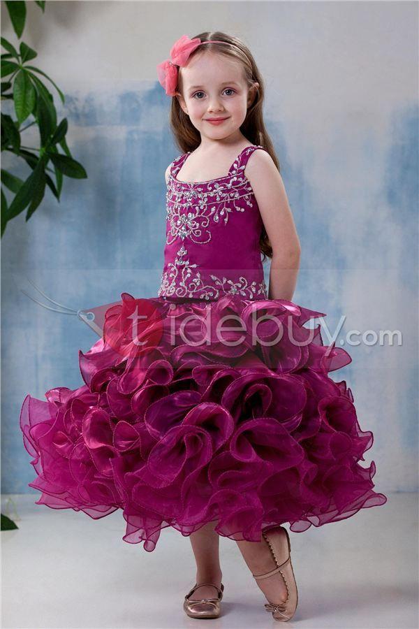 Vestido de Damita Ball Gown con Escote Cuadrado con Bordado (Envío ...