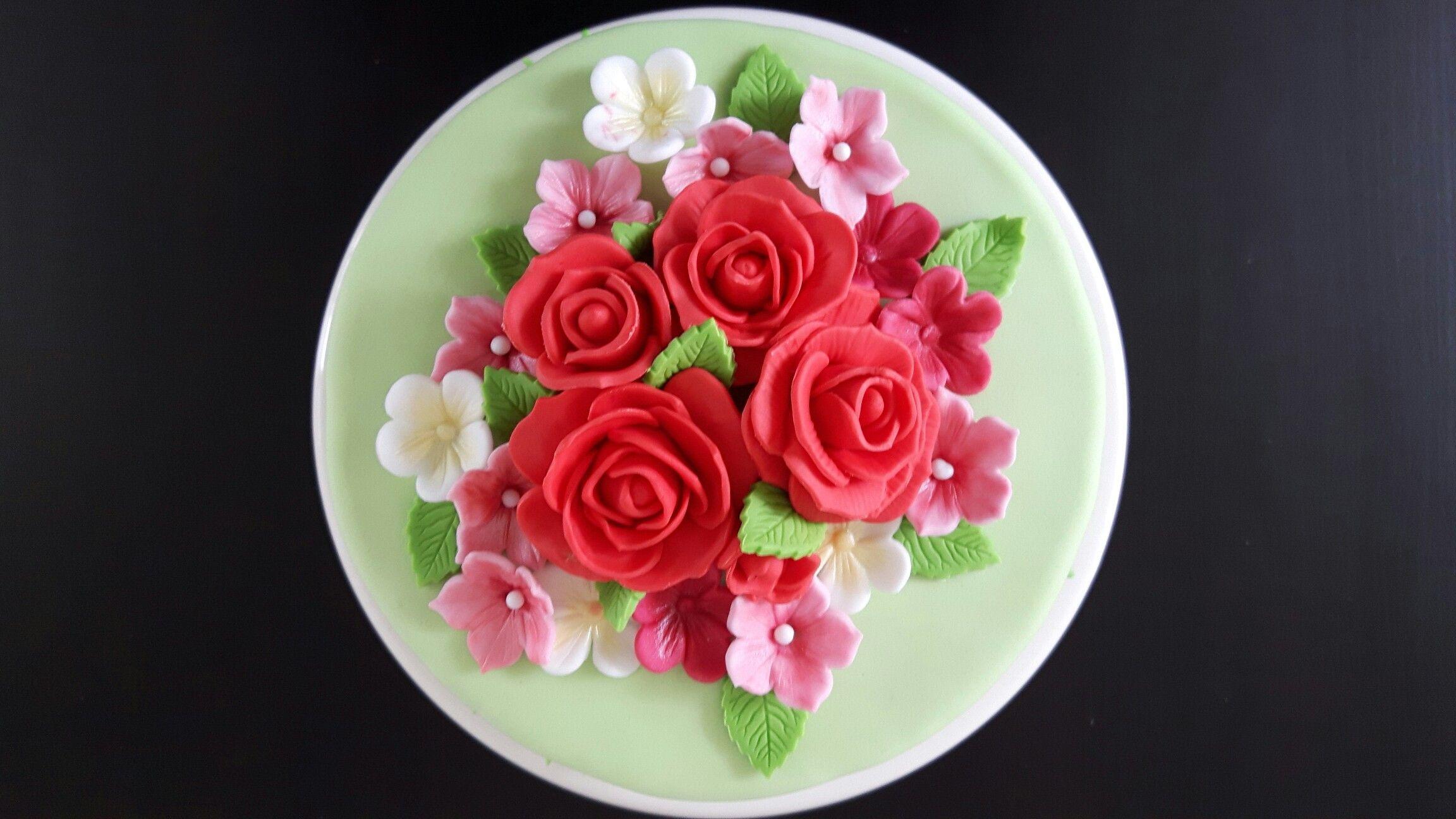 Bloemen taart, maart 2015   Taart