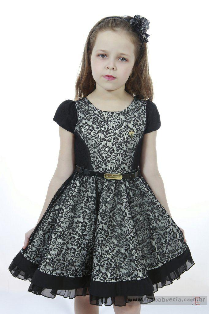 a40b325564 Vestido Infantil Diforini Moda Infanto Juvenil 010787