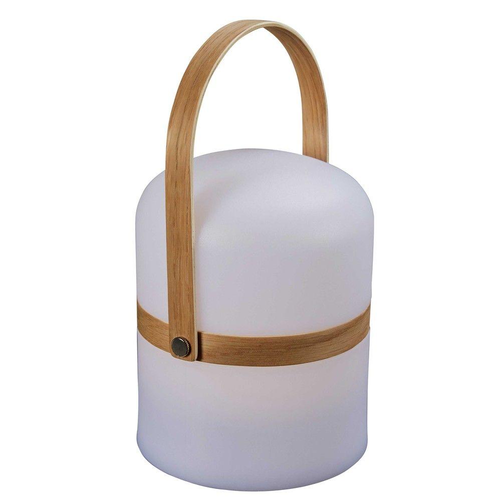 Lampe De Jardin Ton Naturel Et Blanc H 26cm Moonshine Lampe Jardin Jardins Blancs Lampe D Exterieur