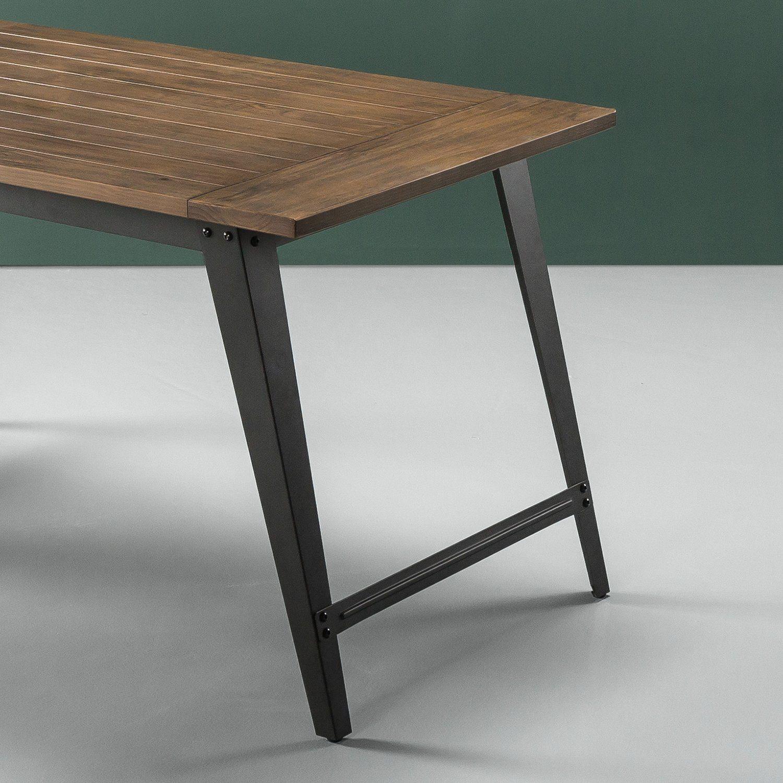 wood metal dining table. Amazon.com: Zinus Wood And Metal Dining Table: Kitchen \u0026 Table D