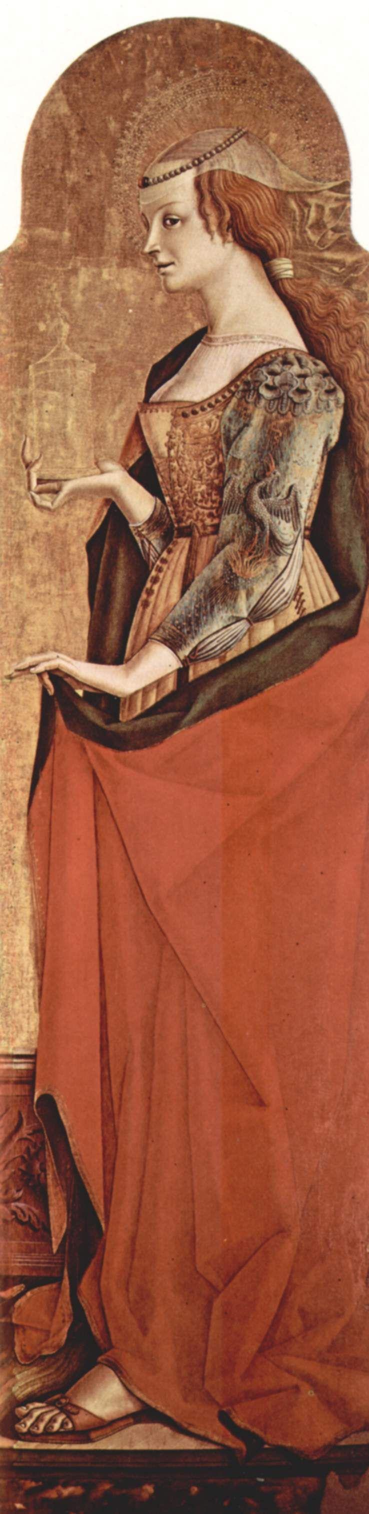 Saint Mary Magdalene Carlo Crivelli Wikiart Org Renaissance Fashion Italian Renaissance Dress Mary Magdalene