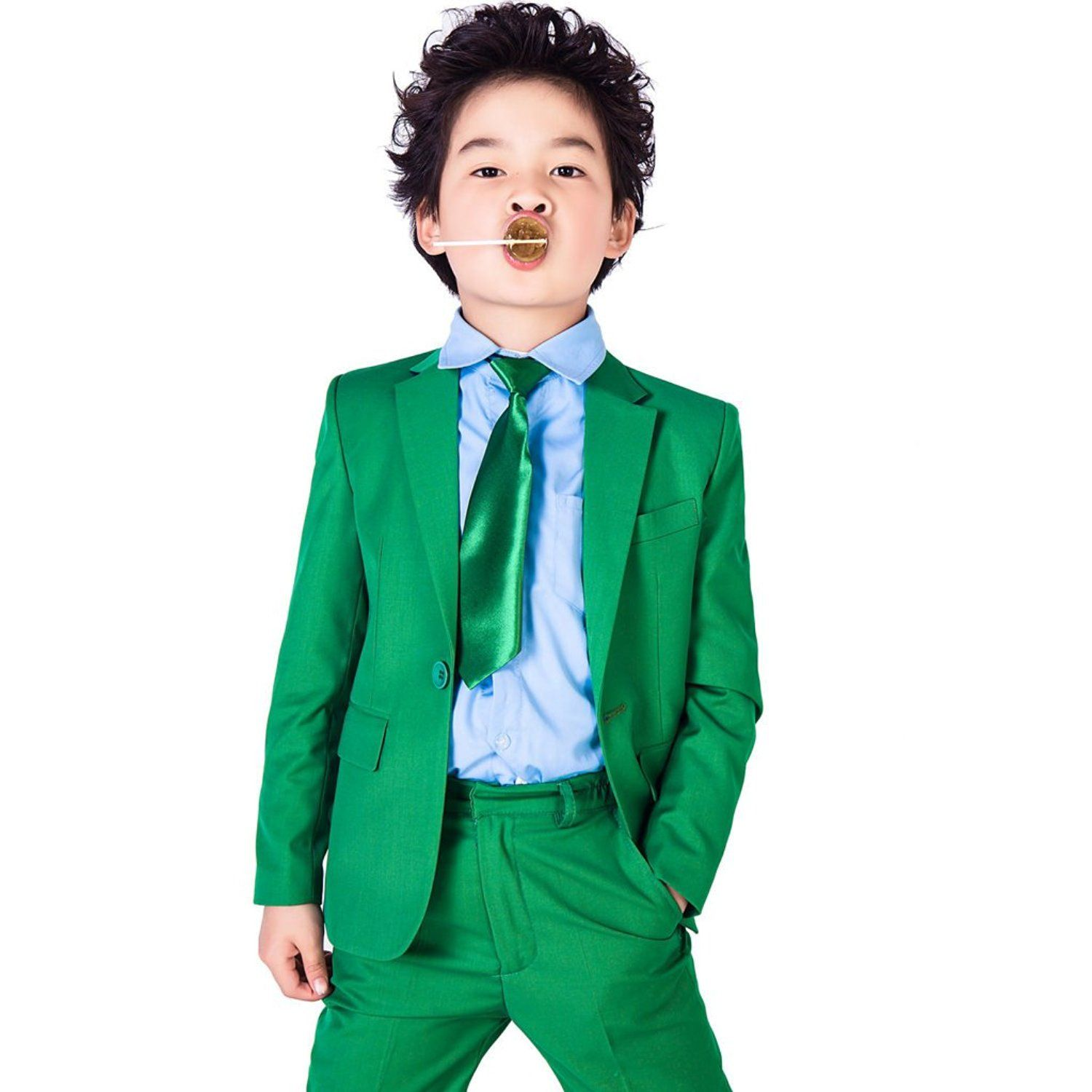 AmazonSmile: XoMoFlag Boys\' Flower Formal Suit Stage Wear Wedding ...