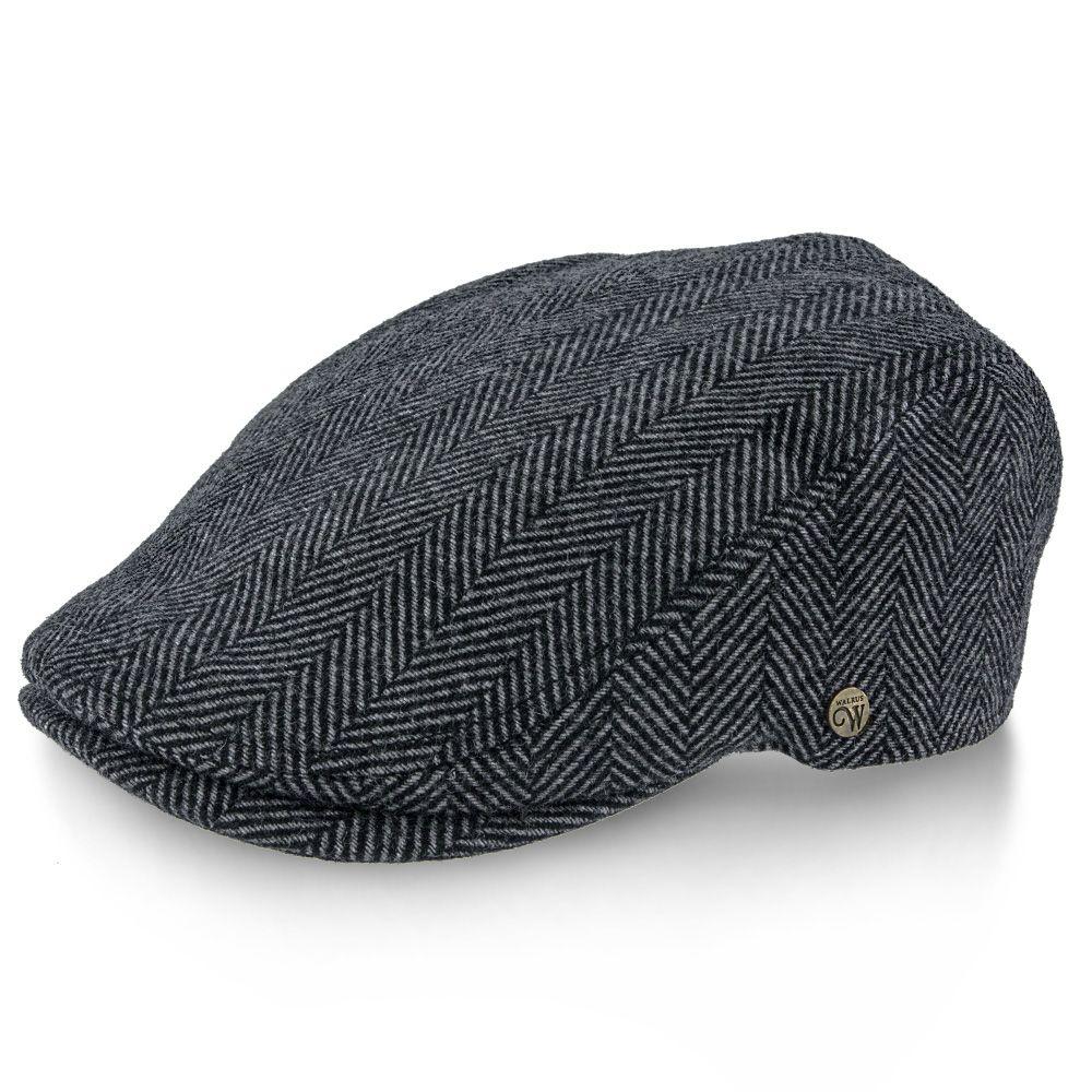 bdb46b821 Main Street - Walrus Grey Tweed Plaid Heringbone Ivy Cap   Ivy Caps ...