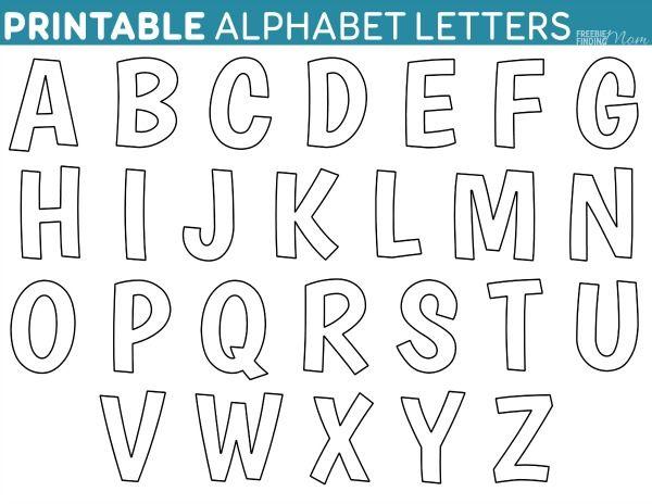 Printable FREE Alphabet Templates | Alphabet templates, Free ...