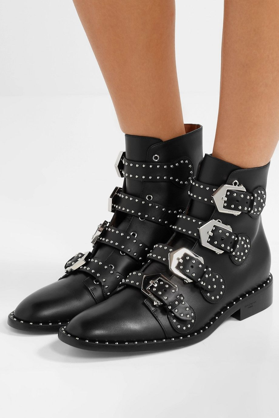 b9ffb7984c738 Givenchy | Elegant studded leather ankle boots | NET-A-PORTER.COM ...