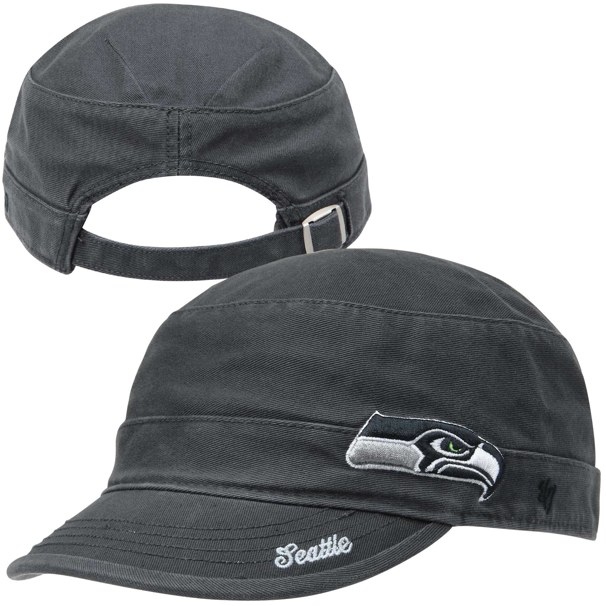 best service f67ef 48448 ... cheap 47 brand seattle seahawks ladies avery military adjustable hat  college navy. 7ffa7 39ba1