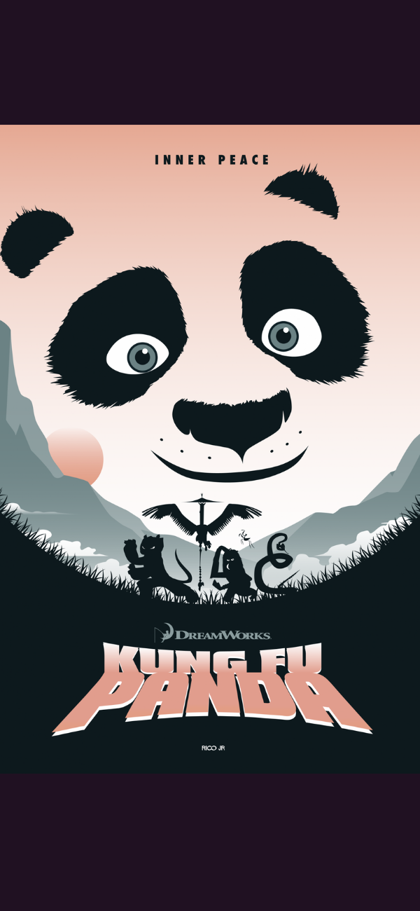 """New private commission based on Dreamworks """"Kung fu Panda"""" film. What a great trilogy!  #Quotes  #Typography, #Posters & #ArtPrints, #postersprints #posterspypreacher #Typography, #art"""