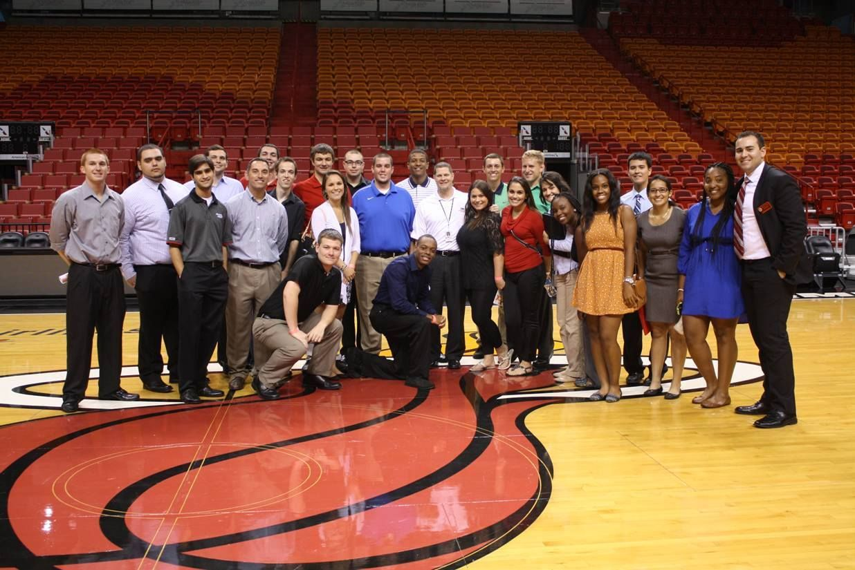 A group of students traveled to Miami for the Sport