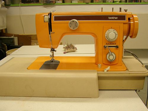 Orange sewing machine ~