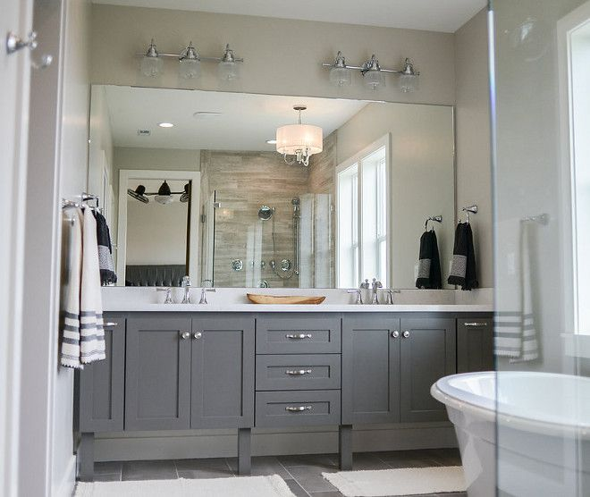 Sherwin Williams Sw7017 Dorian Gray Grey Cabinet Paint Color Sherwin Williams Sw7 Grey Bathroom Cabinets Bathroom Cabinet Colors Painting Bathroom Cabinets