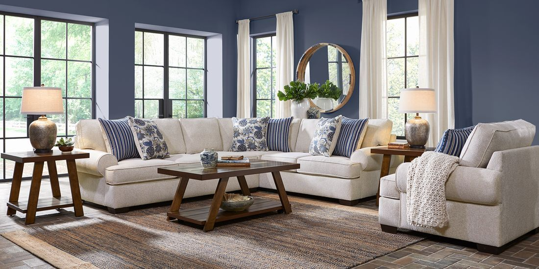 Highland Lakes Beige 2 Pc Sectional Rooms To Go In 2020 Living