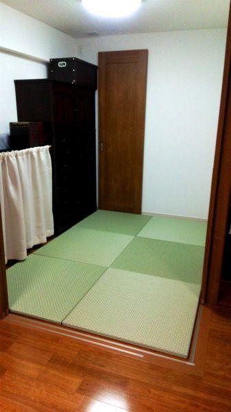 フローリングの部屋に置き畳を敷き詰める 株式会社