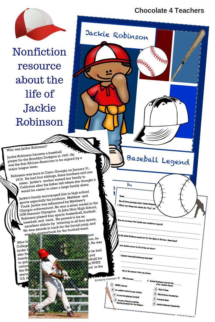 Jackie Robinson Non Fiction Passages Printables No