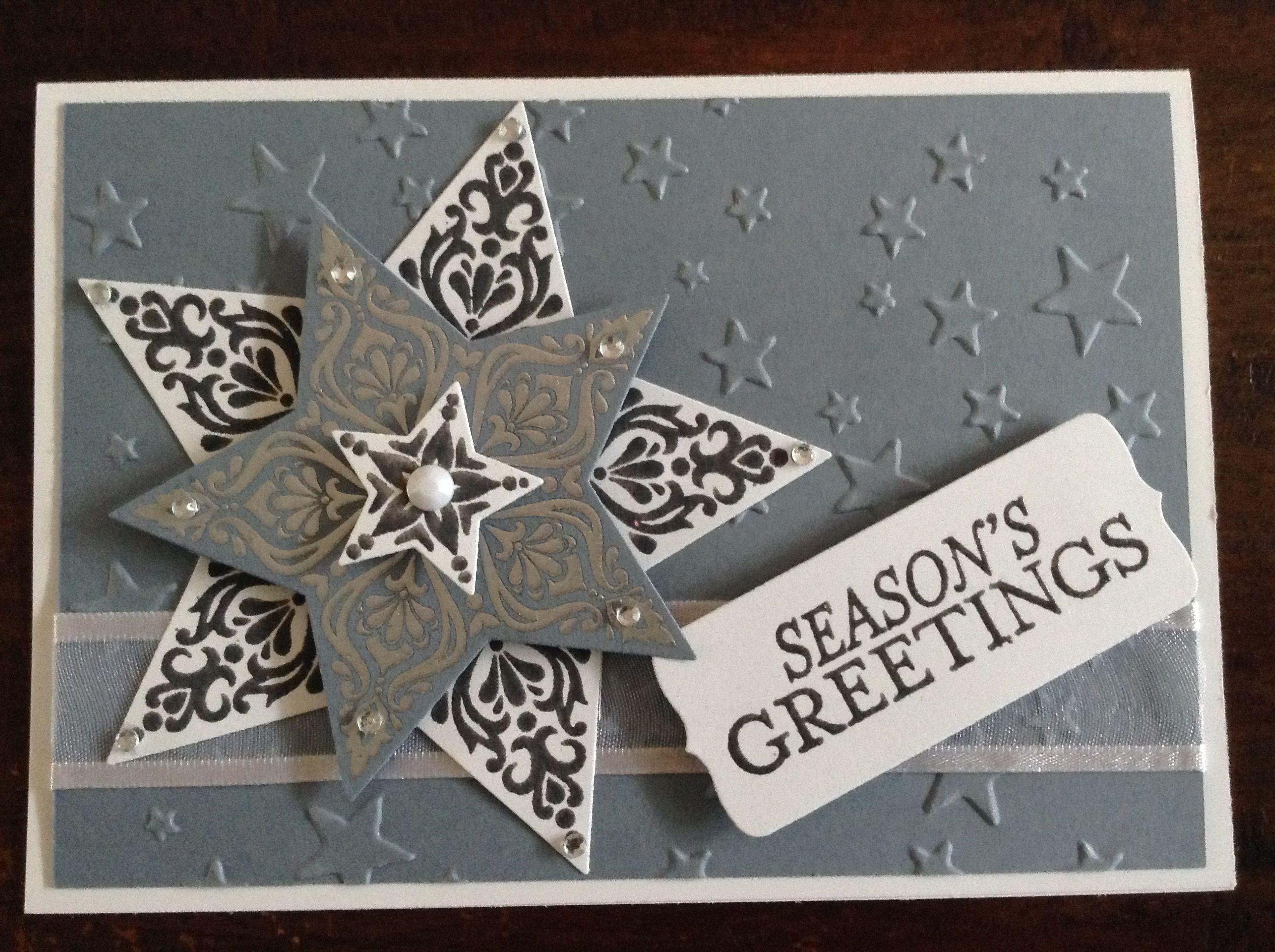 stampin up bright and beautiful  seasons greetings