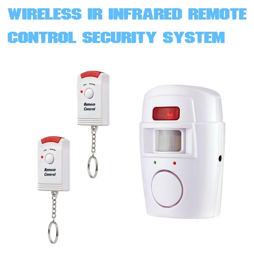 نظام إنذار الأمن الرئيسية لاسلكي كاشف البير استشعار الحركة بالأشعة مع 2 قطع النائية تحكم ال Home Security Systems Wireless Home Security Systems Security Alarm