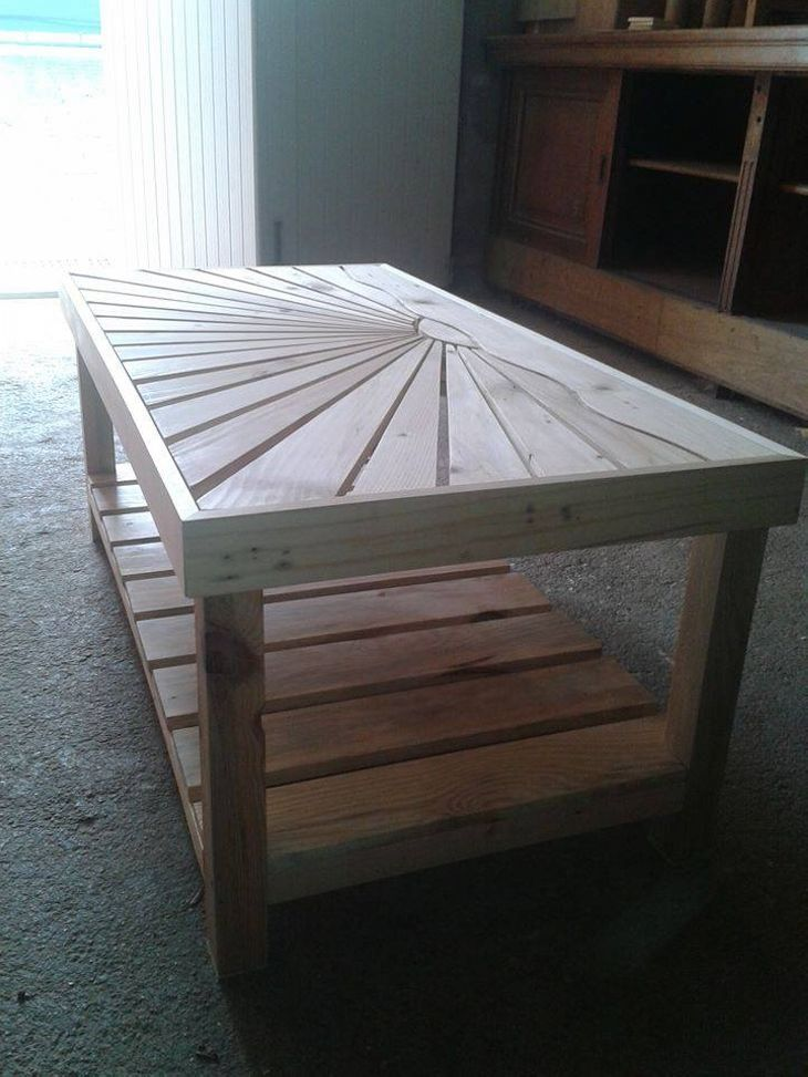 Merveilleux Pallet Wooden Coffee Table