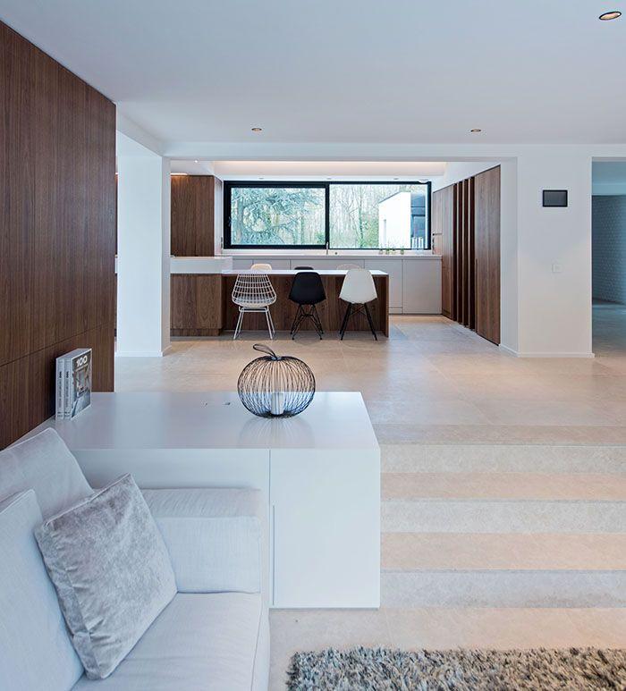 Maison moderne / Design intérieur / Contemporain / Cuisine / white ...