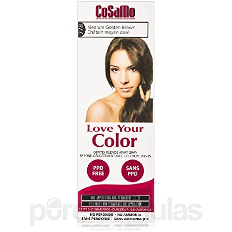 Cosamo Love Your Color Non Permanent Hair Color 778 Medium Golden