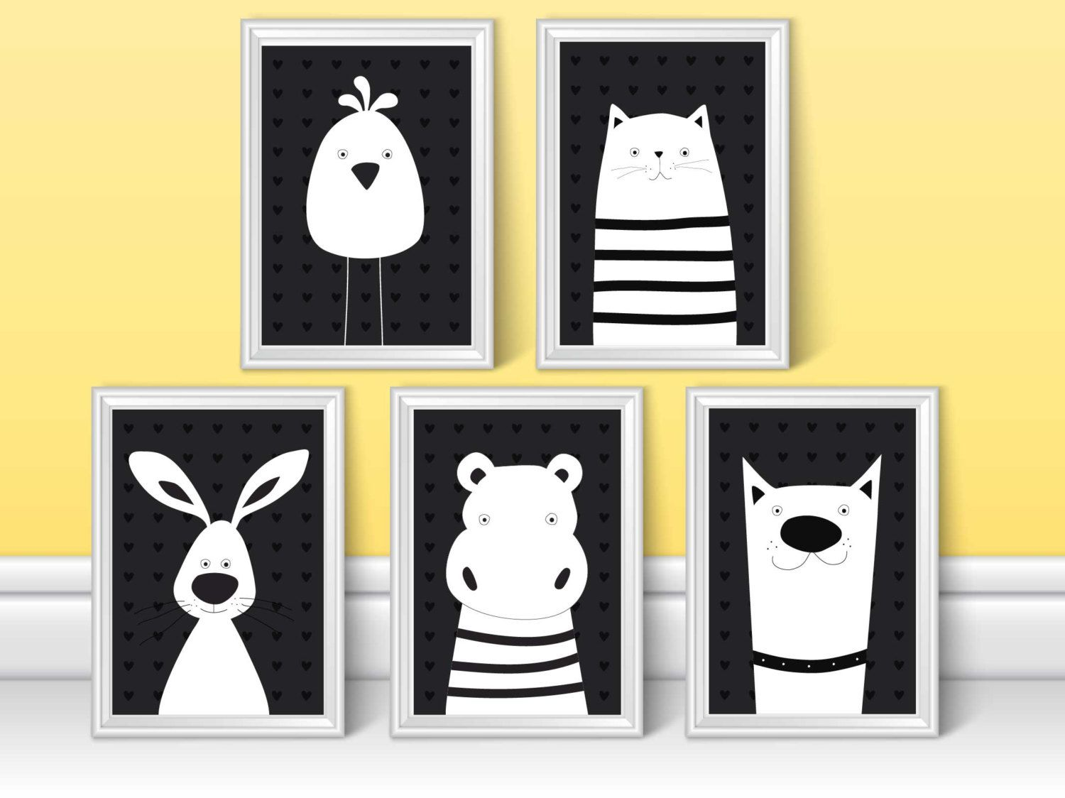 Funky Black White Wall Art Vignette - Wall Art Collections ...