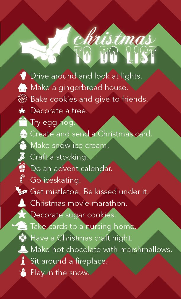 7f141faa82 Christmas to do list. (Made this, by the way...) | For The To Dos ...