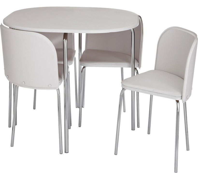 Buy Argos Home Amparo White Dining Table 4 White Chairs Dining