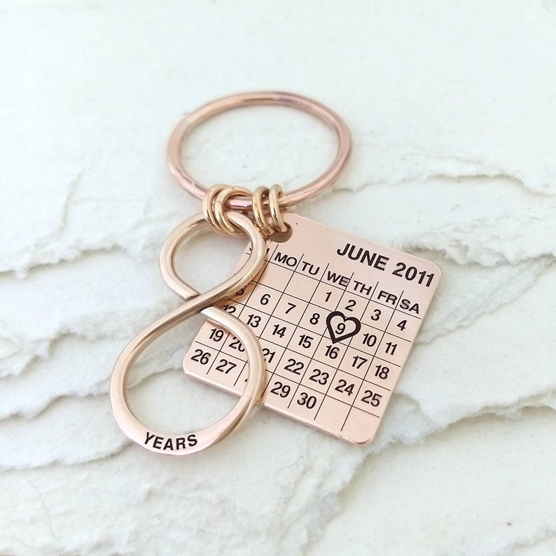 Bronze Wedding Anniversary Bronze Bronze Gift For Him 8th Etsy Personalized Gifts Jewelry Anniversary Gifts For Husband Bronze Anniversary Gifts