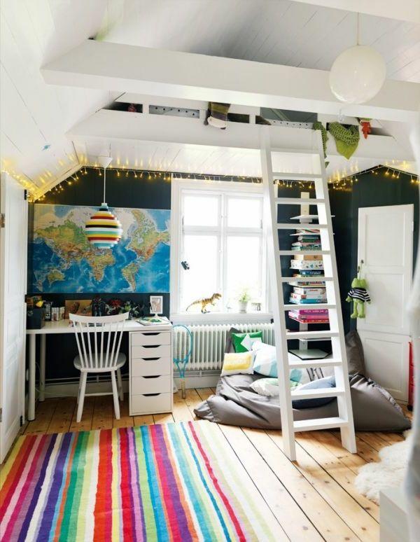 Hochbett design  Weißes Kinderzimmer mit einem kreativen Hochbett Design | Hochbett ...