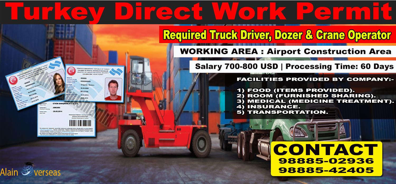 TURKEY JOB-WORK PERMIT♻ Manpower Supply Chain Company), are