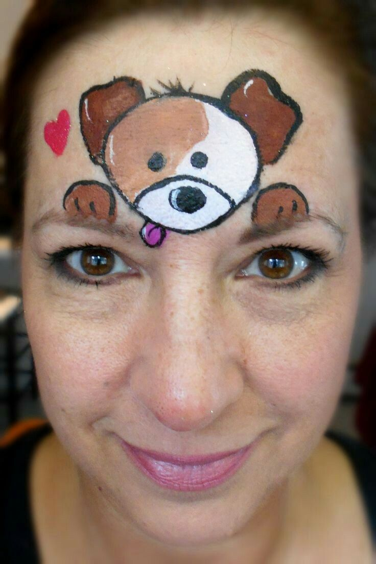 Simple Dog Cheek Face Painting