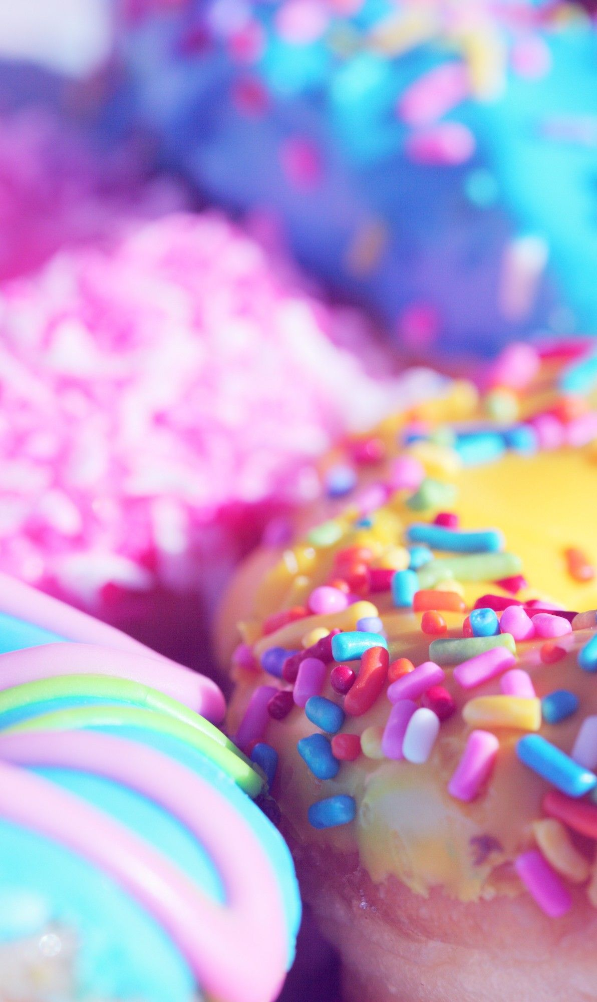 Lovley Girls Colors Phone Wallpaper Rainbow Food Fun Desserts Vintage Sweets