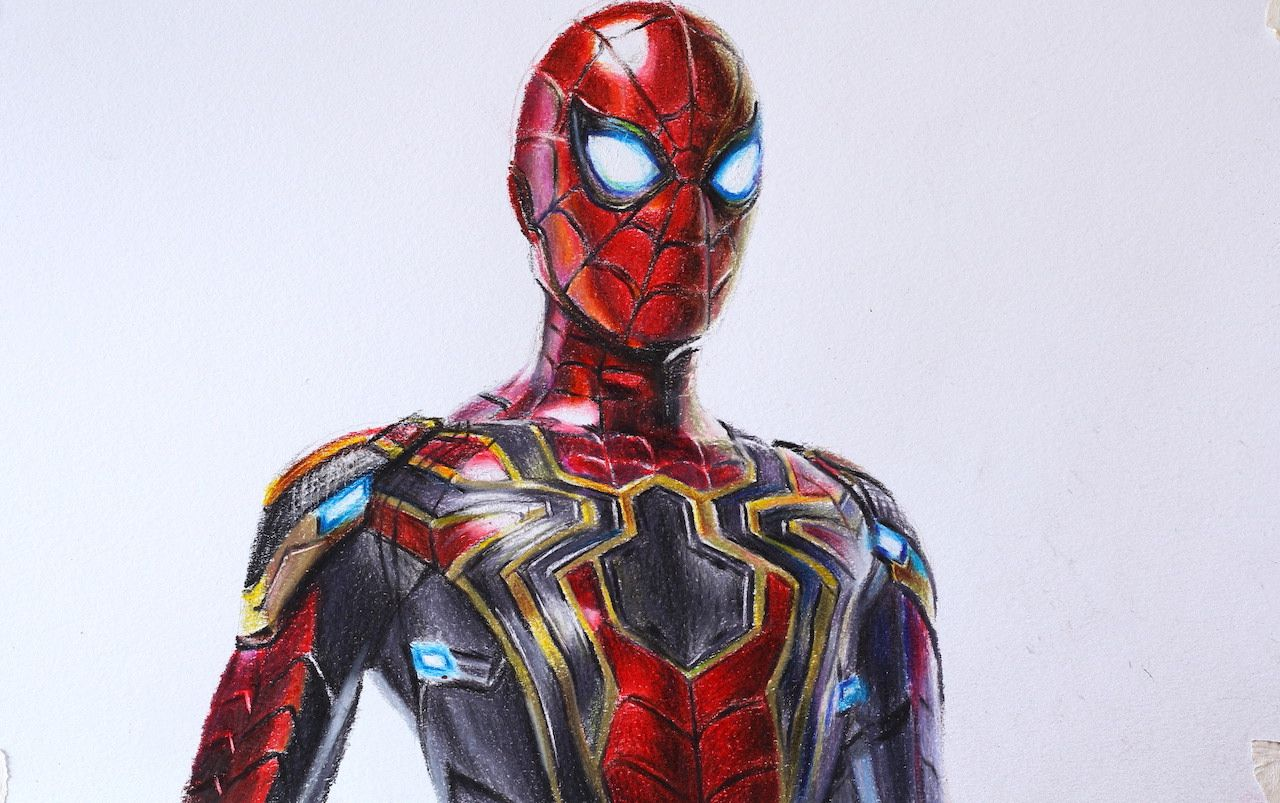 Iron Spider Man New Spider Man Suit Far From Home Spiderman Drawing Spiderman Coloring Spiderman