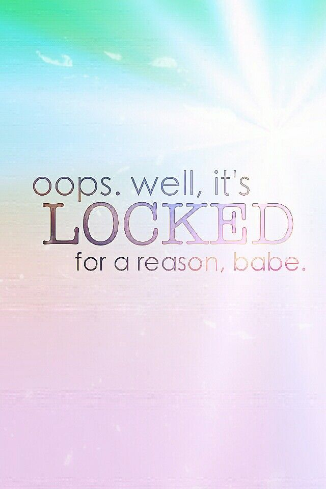 Locked For A Reason Colors Girl Wallpaper Cute Kawaii Smartphone Iphone Galaxy