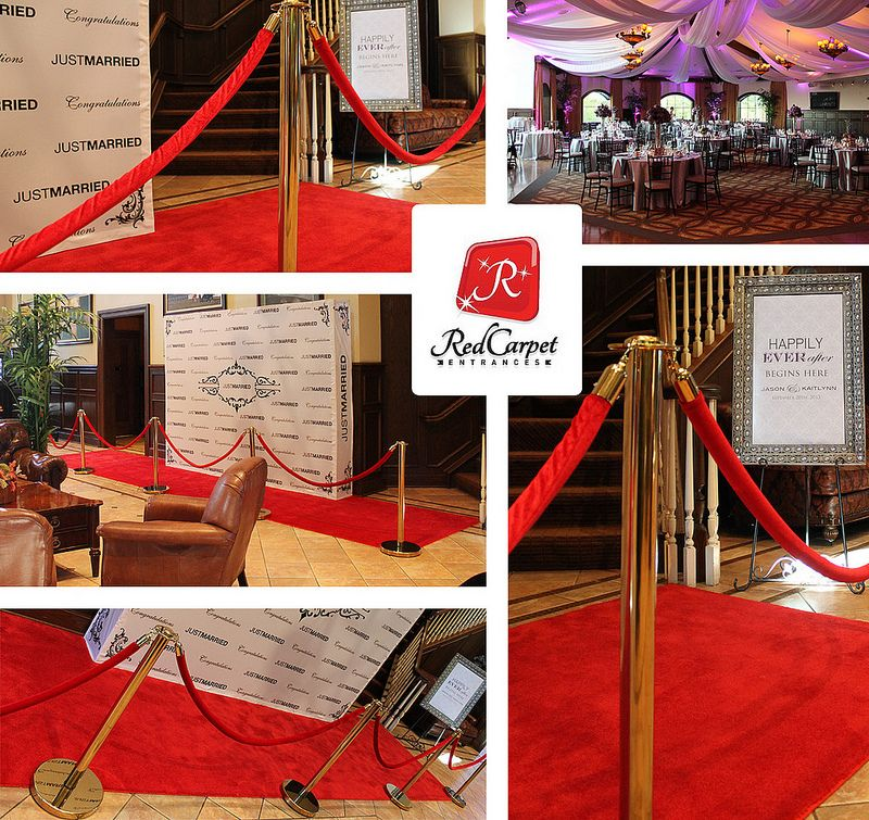 Red Carpet Wedding Reception