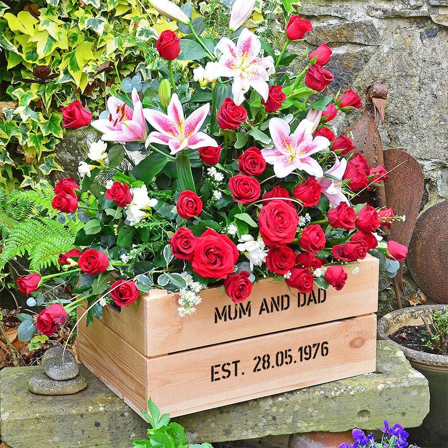 Personalised Crate Ruby Wedding Anniversary