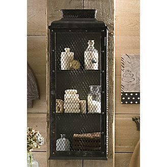 Rustic Medicine Cabinet | Chic Metal Cabinet With Chicken Wire Front And  Sides Has 2 Fixed