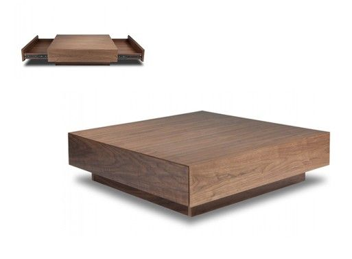 Filipp Walnut Coffee Table Coffee Drawers and Tables