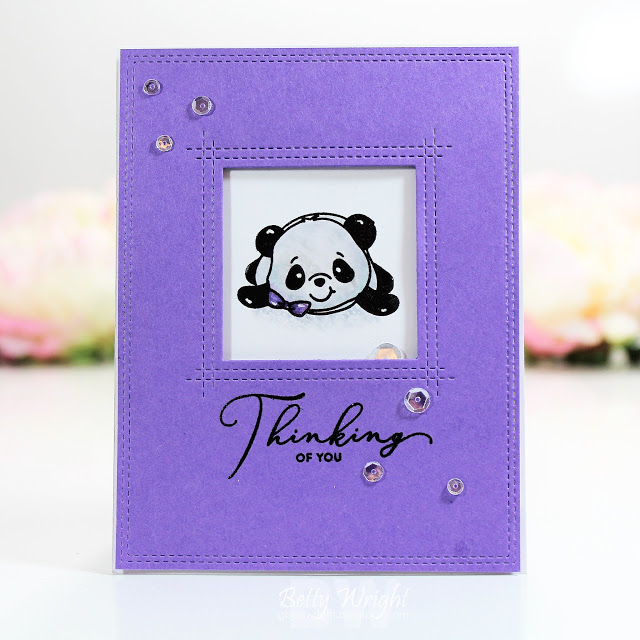 3 cards 1 post: It's Pandamonium! | The Things I Do With Paper Simon Says Stamps August 2019 card kit Party Like a Panda stamp set #cardkit
