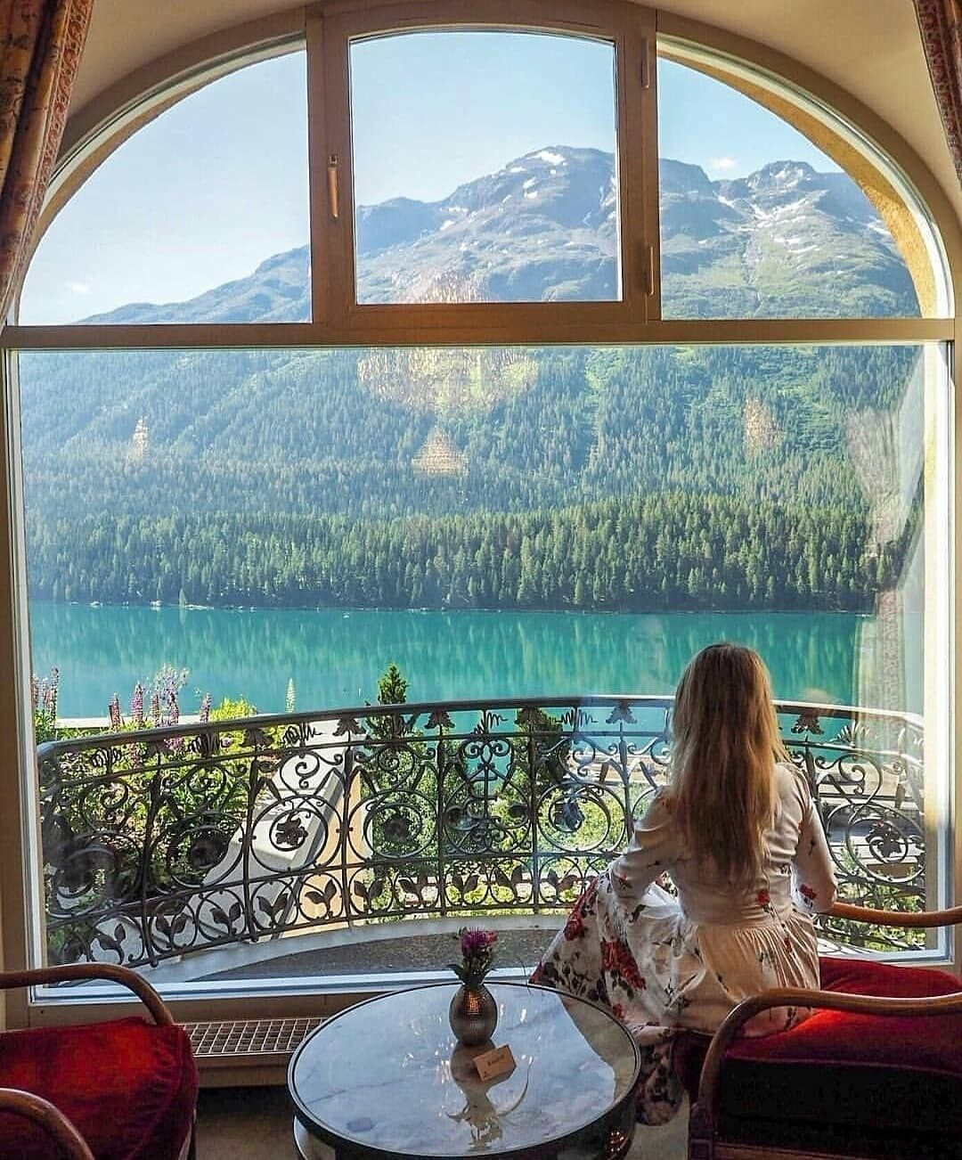 Lovely View At Kulm Hotel St Moritz Switzerland Kulm