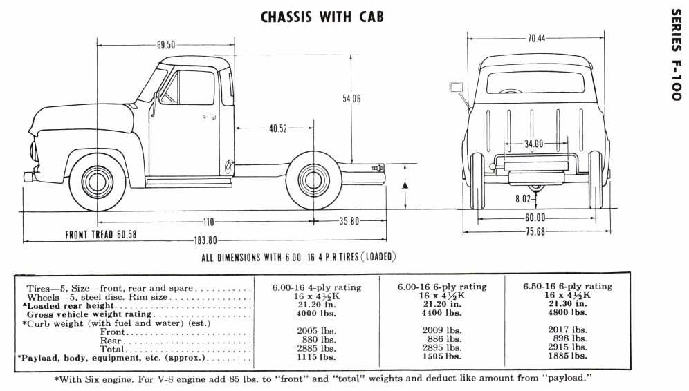 1956 F100 Frame Specs Ford Trucks 1956 Ford Truck Ford Pickup