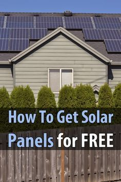 How To Get Solar Panels For Free Solar Free Solar