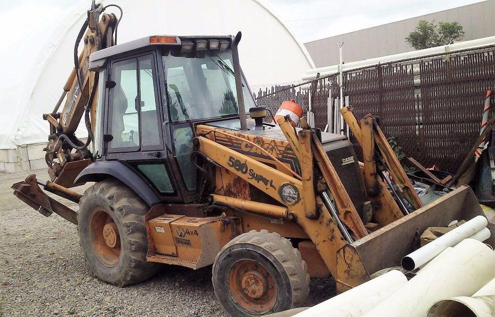 GENUINE CASE 580 SUPER L 4X4 FRONT LOADER CASE Backhoe