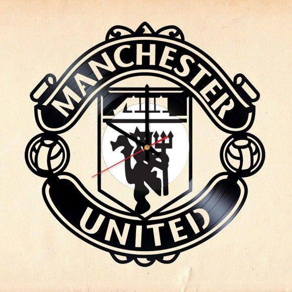 Manchester United Crest Handmade Vinyl Record Wall Clock Fan Gift Manchester United Manchester United Football The Unit