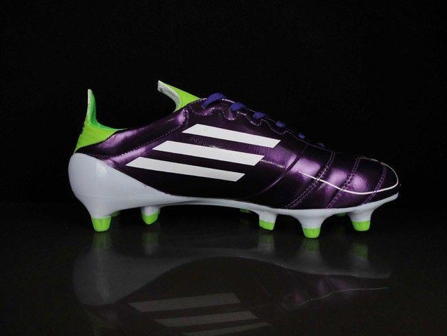 948aa55bff3 Adidas F50 Adizero TRX FG Leather Boots Purple White Green