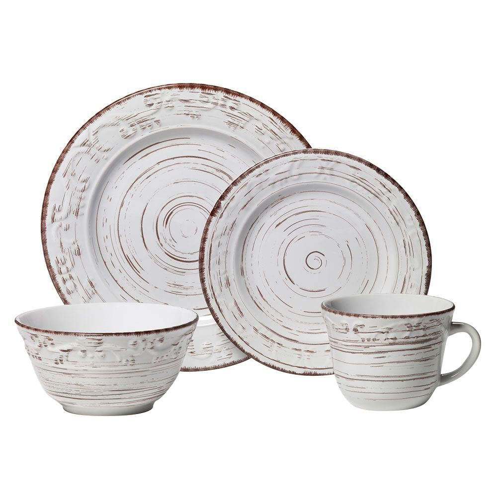 Pfaltzgraff 16-Piece Taupe Dinnerware Set, Brown #casualdinnerware