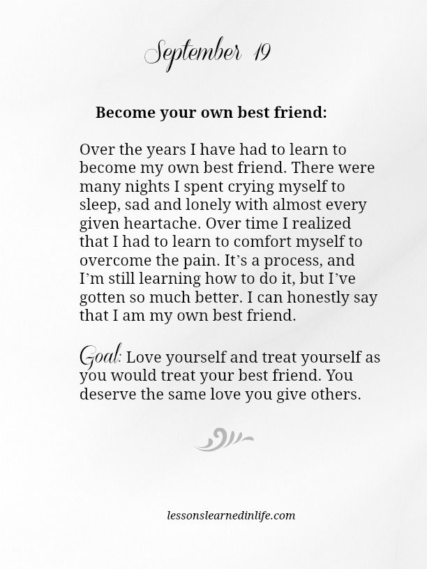 Become your own best friend Over the years I have had to learn to - character letter for court template