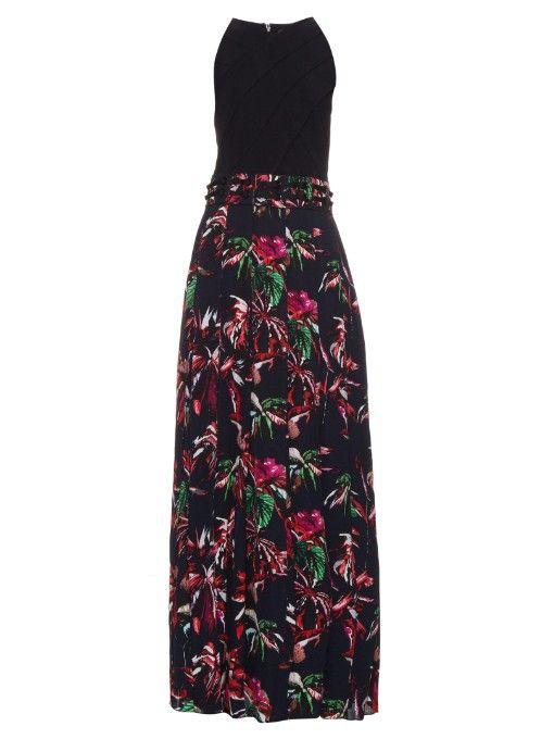 Womens Tropical-Floral-Print Silk Maxi Dress Proenza Schouler AroqTF