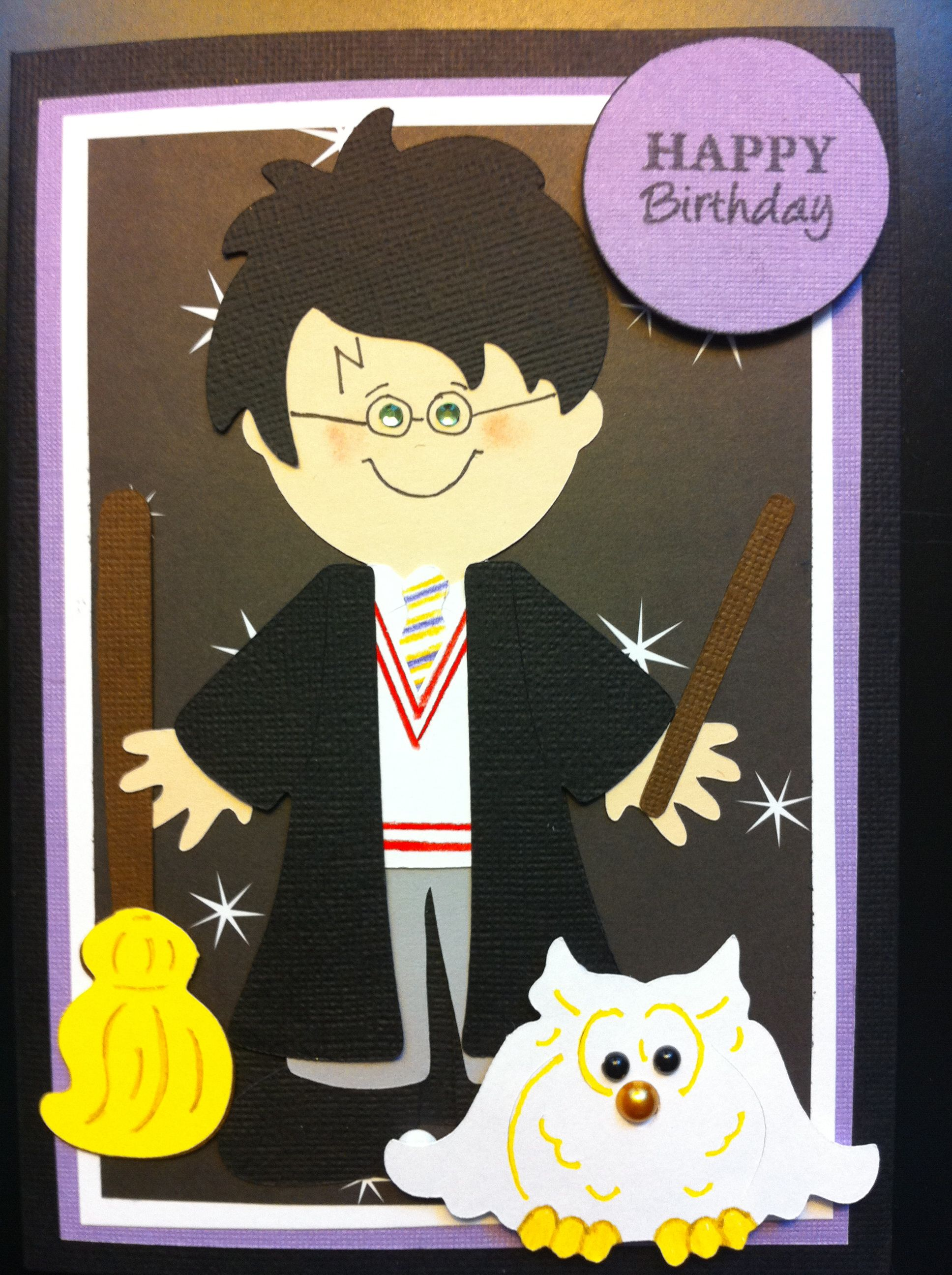 Harry Potter BD Card made with Cricut Paper Doll Dress Up ...